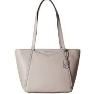 MICHAEL KORS Whitney Small Top Zip Leather Tote